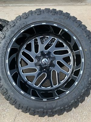 22x12 INCH FUEL OFF-ROAD RIMS WITH 35x12.50R22 TIRES for Sale in Grand Prairie, TX