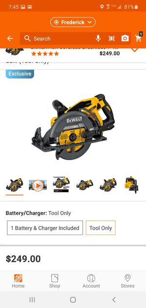 DEWALT FLEXVOLT 60-Volt MAX Lithium-Ion Cordless Brushless 7-1/4 in. Wormdrive Style Circular Saw (Tool-Only) for Sale in Frederick, MD