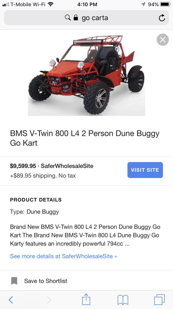 2015 BMS V-TWIN 800 L4 2 PERSON DUNE BUGGY! for Sale in Moreno Valley, CA -  OfferUp