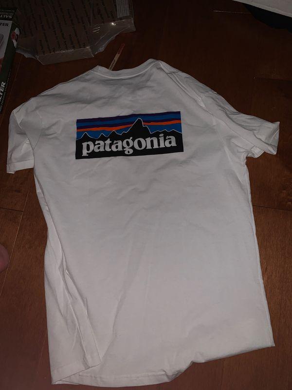 Patagonia white pocket tee