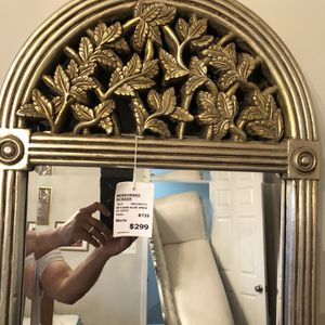 Antique Beveled Edge Mirror with gold Carved trim. for Sale in Ashburn, VA