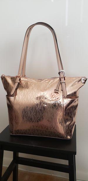 Michael Kors gold leather handbag for Sale in Vienna, VA