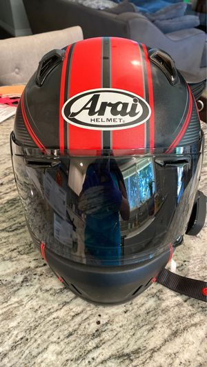 Arai by Snell motorcycle helmet with Bluetooth for Sale in Vancouver, WA