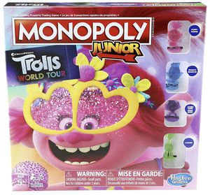 New Monopoly Junior: DreamWorks Trolls World Tour Edition Board Game for Kids Ages 5 and Up for Sale in Pinellas Park, FL