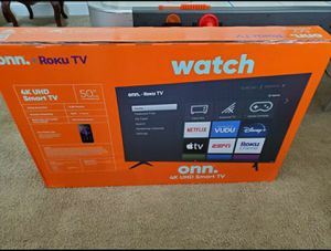 50 inch 4k ultra smart led hdtv built in Roku.... NEW in box and sealed .... NO TRADES for Sale in Plano, TX