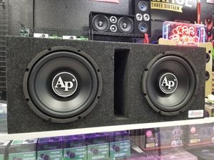 "10"" AUDIOPIPE SUBWOOFERS W/PORTED BOX for Sale in Tampa, FL"