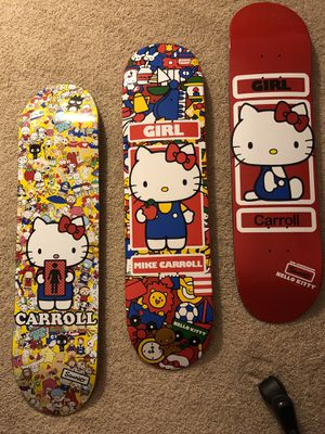 Sanrio Hello Kitty Skateboard Deck Set GIRL for Sale in Torrance, CA