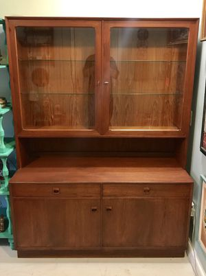 Midcentury modern Denmark Brouer credenza china hutch sideboard for Sale in Chevy Chase, MD