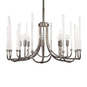 Cordelia Lighting 8-Light Satin Copper Bronze Chandelier with Clear Smooth Glass Rods for Sale in Phoenix, AZ