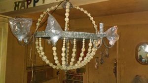 Wood beaded chandelier for Sale in Phoenix, AZ