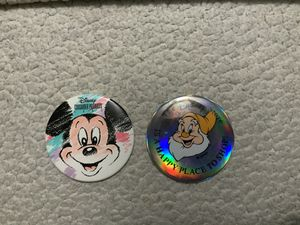 NEW Disney Consumer Productsin 1993 Button AND The Disney Store Is A Happy Place To Shop Button ( EXCELLENT CONDITION) for Sale in Henderson, NV