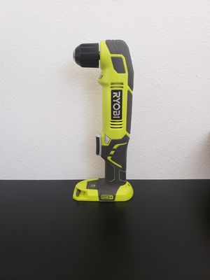 D334) RYOBI 18V RIGHT ANGLE DRILL ( TOOL ONLY SOLO HERRAMIENTA) for Sale in Riverside, CA