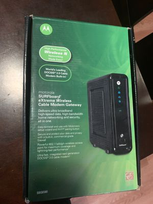 Motorola Wireless cable modem for Sale in Texas City, TX