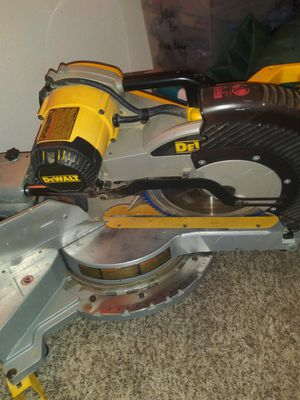 Dewalt compound miter table saw $600, Dewalt compreaspr$350 (with hose and nailgun), little gian ladder 20+ positions brand new in box$200. O.B.O for Sale in Tacoma, WA