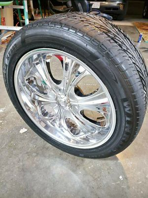 """20"""" rims and tires off an 02 silverado for Sale in Newman, CA"""