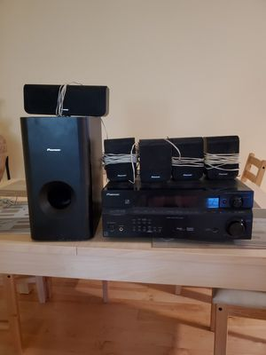 Pioneer surround sound with audio multi-channel receiver. for Sale in Matthews, NC
