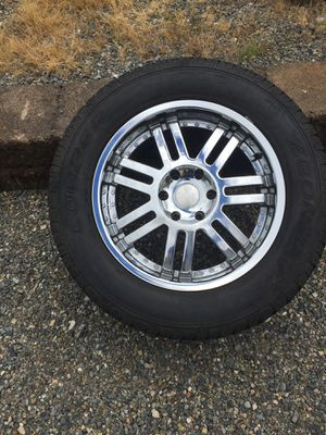 Silverado Sierra Tahoe Escalade 1500 6 lug wheels and tires toyota Titian for Sale in Puyallup, WA