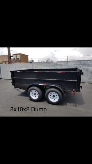 8x10x2 DUMP TRAILER for Sale in Modesto, CA