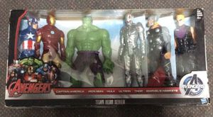 "Marvel Avengers Titan Hero Series Action Figure Set Collection Lot, Target Exclusive Captain America, Iron Man, Hulk, Ultron, Thor, & Hawkeye 12"" Act for Sale in Phoenix, AZ"