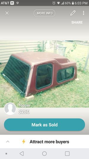 Topper off a 8 ft truck for Sale in Lafayette, IN