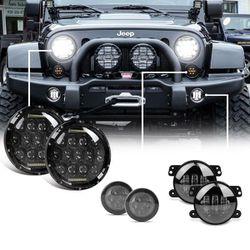 2007-2018 Jeep Wrangler JK LED Headlight, Fog Light, & Turn Signal Combo Left and Right Pair for Sale in Fullerton,  CA