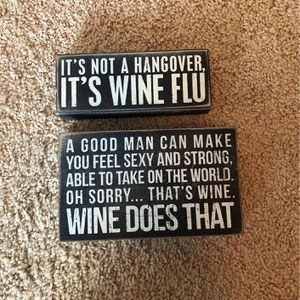 Wine Themed Signs (Set) for Sale in Mechanicsburg, PA