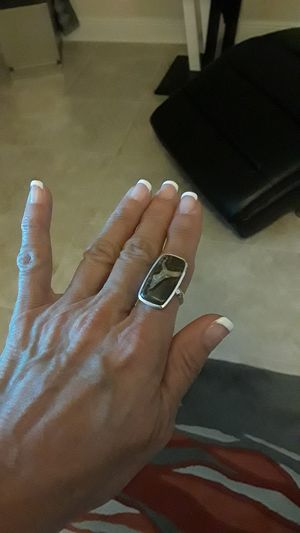 925 stamped ring with rare gemstone size 8 for Sale in Riverview, FL