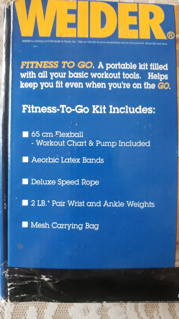 Weider fitness-to-go kit
