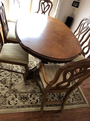 Antique table with chair for Sale in Gaithersburg, MD