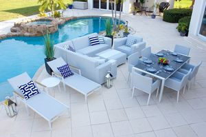 Milan 15-Piece Combination Outdoor Furniture Set for Sale in Alafaya, FL