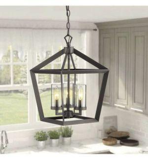 Chandelier 3-Light Lantern Pendant Light, for Sale in Riverside, CA