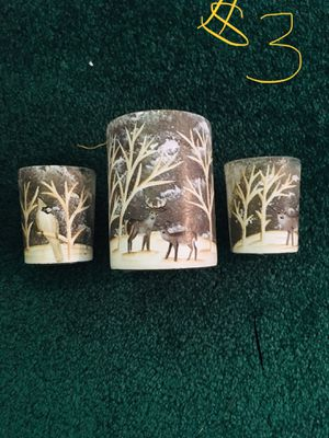 Painted candle holder for Sale in Syracuse, UT