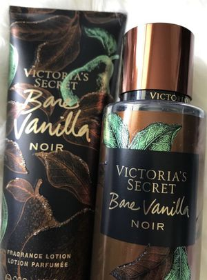 """""""Bare Vanilla Noir"""" brand new fall Victoria secrets line - Full sized fragrance mist and lotion $20! This weekend only for Sale in Indianapolis, IN"""