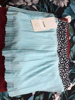 LULULEMON Pleat To Street Skirt 6 Tranquil Blue Ace Spot Black Run for Sale in Belmont, MA