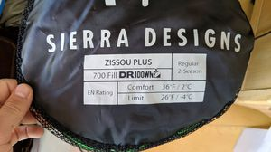 Sleeping bag - Sierra Designs Zissou Plus for Sale in San Francisco, CA