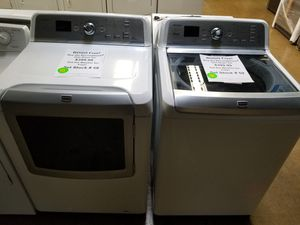 BUY DRYER AND GET WASHER FREE COMPLETE SET MAYTAG WITH WARRANTY for Sale in New Lenox, IL