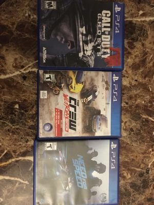 3 Ps4 games for 20 for Sale in Wichita, KS
