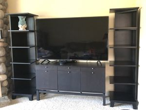Black Cabinet and 2 bookcases for Sale in Carlsbad, CA