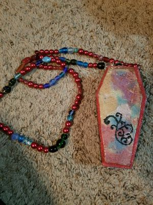 """Hand painted coffin """"purse"""" or decor for Sale in Chesapeake, VA"""