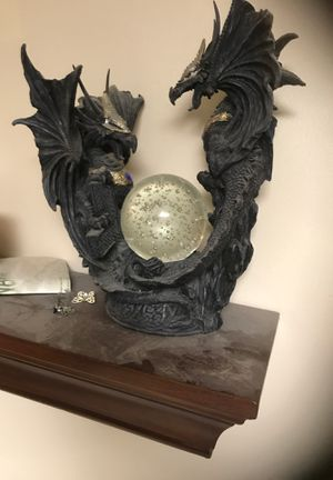 Dragon statue with light up globe. for Sale in Anchorage, AK
