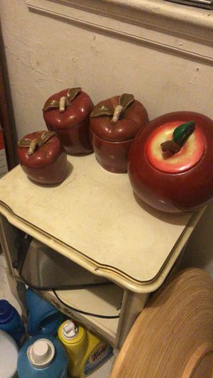 Apple kitchen canisters for Sale in Medford, MA