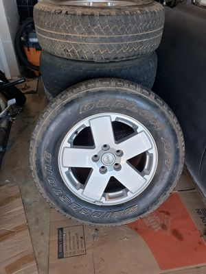 """18"""" Jeep wheels with tires set of 5 for Sale in The Colony, TX"""