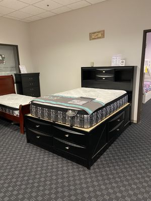 Ultimate Storage Bed Frame In Full or Queen for $499 / Available in Grey, Merlot, Black or White for Sale in Vancouver, WA