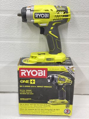 RYOBI 18-Volt ONE+ Cordless 3/8 in. 3-Speed Impact Wrench (Tool Only) for Sale in Bakersfield, CA