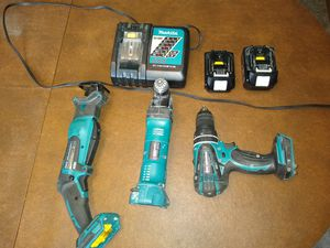 Makita 18v Tools - Hammer Drill, Multi Tool, Mini Sawzall 2 Batteries and charger for Sale in Fallsington, PA