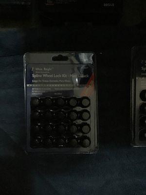 Spline 12 x 1.5 Matte Black Rim Security Lug Nuts w/ Unique Socket Lock for Sale in Henderson, NV