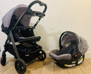 Graco Car seat and y coche para Bebe for Sale in Fort Lauderdale, FL