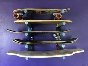 Skateboard longboard wall rack for Sale in Port Richey, FL
