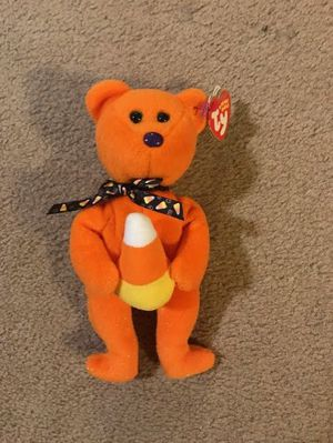 """Ty Beanie Baby 8"""" The Candy Corn Halloween Bear Plush for Sale in San Francisco, CA"""