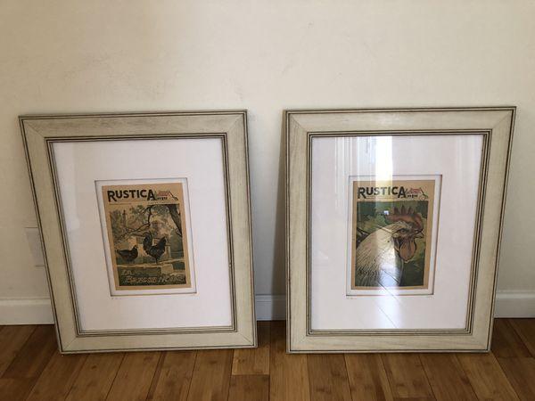 Vintage Framed Rustica Prints - From France